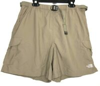 The North Face Womens Large Tan Khaki Shorts With Belt Hiking Cargo Outdoor A23