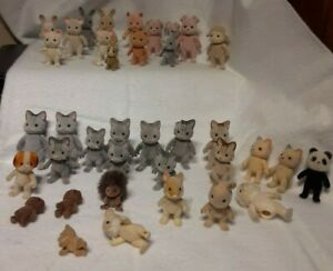 Calico Critters Sylvanian Families Mix lot: Animals are All DAMAGED