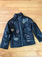 THE CHILDREN'S PLACE BLACK PUFFY JACKET WITH PATCHES