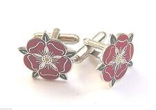 Lancashire Rojo Rosado Esmalte Escudos Gemelos (N26)