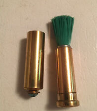 VINTAGE 1950'S~60'S JEWELED COSMETIC MAKE UP RETRACTABLE BRUSH WITH BAG