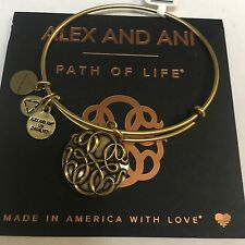 "ALEX AND ANI ""PATH OF LIFE III"" CHARM BRACELET IN RUSSIAN GOLD! BRAND NEW W/TAG"