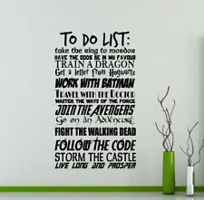 To Do List Wall Decal Potter Star Wars Geek Gift Vinyl Sticker Decor Poster 57me