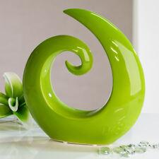 Moderne und wunderschöne Skulptur aus Keramik grün Höhe 18 cm Breite 18,5 cm