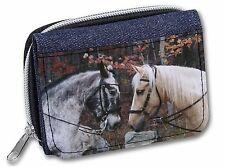Horses in Love Animal Girls/Ladies Denim Purse Wallet Christmas Gift Ide, AH-5JW