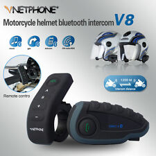 1200M BT Bluetooth Motorcycle Helmet Interphone Intercom Headset Remote 5 Riders