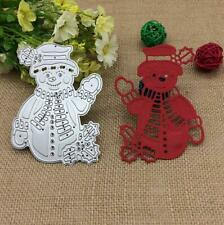 Metal Christmas Snowman Template Die Cutting Dies Stencils Scrapbooking Cards