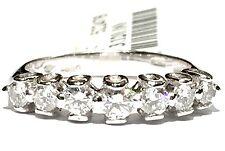 anello veretta in oro bianco 18 kt con 9 diamanti ct 0,52 F VVS1 n 12