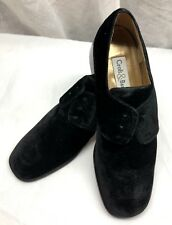 Croft & Barrow Velvet Oxford Shoes Lenna Black Womens Size 10 Med.
