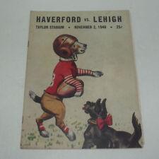 NEAT 1940 COLLEGE FOOTBALL PROGRAM HAVERFORD VS LEHIGH COKE 7 UP ADS