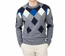 Tommy Hilfiger men's sweater, jumper Clyde Pattern grey/blue