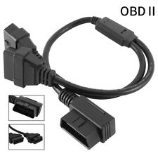 16 pin Sock OBD2 OBDII Splitter Extension Cable Male to Dual Female Y Connectors