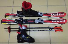 Kinder Skiset Völkl Ski 100 cm incl Skiservice + Skischuhe Gr. 32 neue Skistöcke