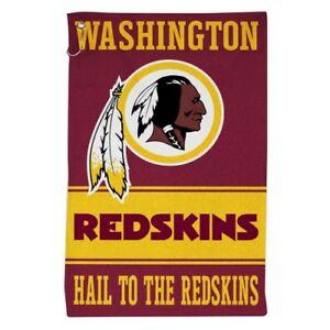 "WASHINGTON REDSKINS ALL PURPOSE GOLF TAILGATE TOWEL 16""X25"" HOOK AND GROMMET"