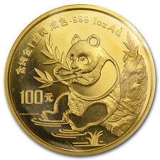 1991 China 1 oz Gold Panda Small Date BU (Sealed) - SKU #11414