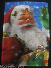 "Classic Santa Christmas Garden Flag Mini Small 12.5"" x 18"" NEW"