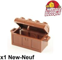 Lego - 1x Container coffre trésor treasure chest marron/red. brown 4738ac01 NEUF
