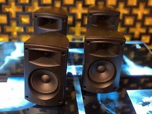 4 Klipsch Comm Sat Satellie Speakers w/ Mounts