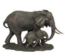"17"" Elephant and Calf Statue Sculpture Figurine Animal Home Decor Wild Life"