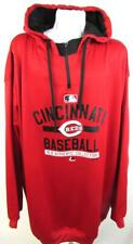 Cincinnati Reds Big Mens 4XT Screened 1/4 Zip Pullover Hooded Sweatshirt CIR 30