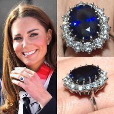 Diana Princess 2.53 Carat Sapphire & Simulated Diamond Traditional Wedding Ring