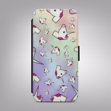 Unicorn rainbow colourful emoji FLIP PHONE CASE COVER fits IPHONE SAMSUNG