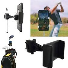 Chic Abs Golf Swing Phone Holder Cell Phone Clip Stand Bracket Support Black