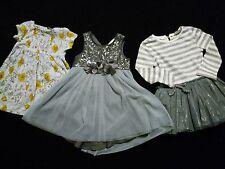 100% NEXT 12-18 MESI BABY Toddler Girls CLOTHES Bundle firma Sequin Dress