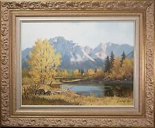 "George A. Horvath Oil Painting ""Autumn Solitude"", Canadian Mountain Landscape!!"
