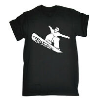 Skiing Snowboarding T-Shirt Funny Novelty Mens tee TShirt - Cool Snowboard