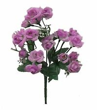 20 Mini Open Roses ~ MANY COLORS ~ Bouquets Centerpieces Silk Wedding Flowers