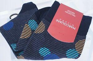 New Marcoliani Milano Men's Socks Polka Dot Blue Striped Balloons Cotton
