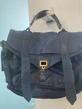 Proenza Schouler Ps1 Navy Blue Leather Messenger Bag