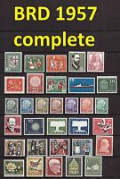 Germany Complete Year 1957 MNH Stamps, German BRD Yearset Mi. 249-280