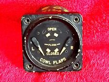 "GENERAL ELECTRIC 2 1/4"" DJ-29 DUAL COWL FLAPS POSITION INDICATOR P/N 8DJ29AAW"