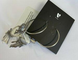 V By Very Large Oversized Ethnic Boho Style Charm Earrings BNWT