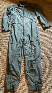 Genuine American CWU27P USAF Flight Suit Aircrew Coverall Sage Green 40L