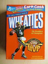 GREEN BAY PACKERS BRETT FAVRE 3 TIME MVP FULL WHEATIES BOX 1999 - C