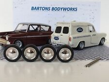 1:18 X4 Wheels & Rubber Tyres Anglia Mk1 Escort Vw BMW RS Rally  New MODIFIED