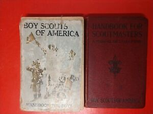 BOY SCOUTS OF AMERICA TWO BOOK COLLECTION.HANDBOOK FOR SCOUT MASTERS +