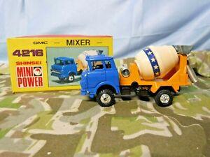 SHINSEI MINI POWER 4216 GMC MIXER - 1/60 Scale  - W/Box Made in Japan (948)