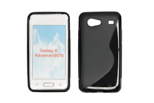 Housse Etui Coque Silicone Gel Noir S ~ Samsung GT i9070 Galaxy S Advance