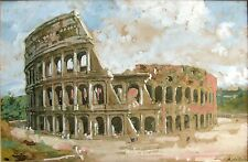 ANNA PALM DE ROSA-Swedish Realist- Original Signed Gouache-Roman Colosseum