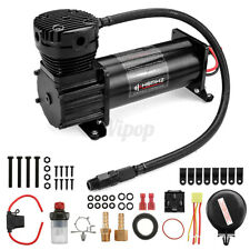 10 GAL 12V DC 200 PSI 444C Max Horn Air Compressor With Relays Switch Truck