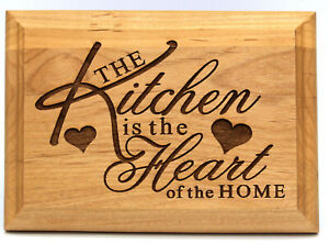 Kitchen is the heart of the home kitchen wall plaque laser engraved 5X7 US Made