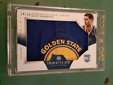 2012 PANINI IMMACULATE  KLAY THOMPSON 1/1 CAPS 14/30 GOLDEN STATE LOGO  MINT ...