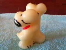 Vintage 1970s Hallmark Snoopy Hugging a big Dog Bone 2 1/2 in. Tall Candle