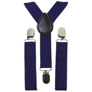 New Children Kids Boys Navy Blue Braces - Page Boy Wedding - UK Seller