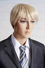 Blond male wig, fullsize adjustable cosplay, synthetic men's wig-F3(Blond)