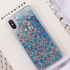 For iPhone X 6S 7 8 Plus Dynamic Liquid Glitter Quicksand Shiny Soft Case Cover
